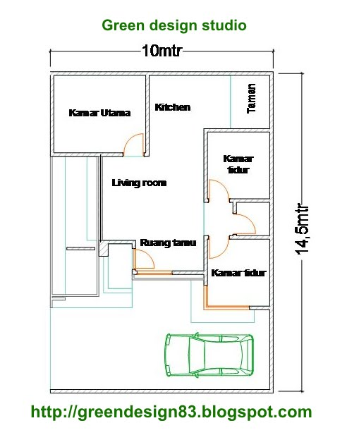12 Denah Rumah Minimalis 3 Kamar Tidur 2015 Rumah Minimalis 2015