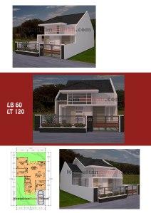Desain Rumah Minimalis Type 60 1 dan 2 Lantai