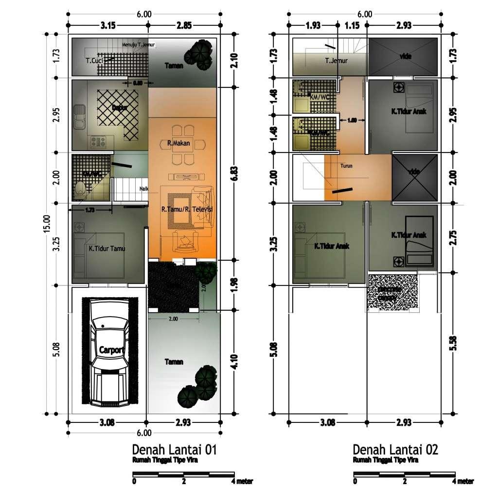 desain rumah minimalis type 60 1 dan 2 lantai rumah