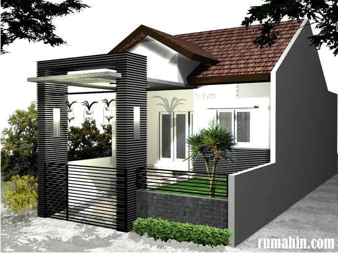 rumah model minimalis modern type 45 untuk 1 lantai dan 2